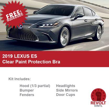 2019 Lexus ES Pre Cut Clear Paint Protection Bra Kit
