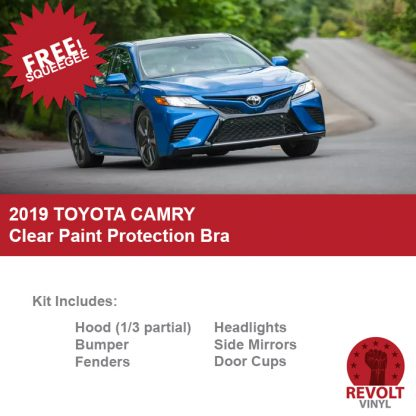 2019 Toyota Camry Pre Cut Clear Paint Protection Bra Kit