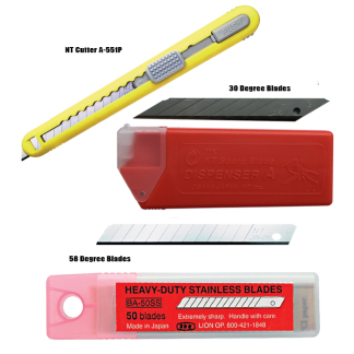 NT Cartridge Cutter A-553P & Replacement Blades