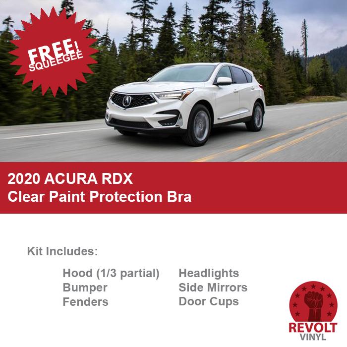 2020 Acura RDX PreCut Clear Paint Protection Bra Kit
