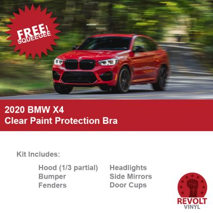 2020 BMW X4 Pre Cut Clear Paint Protection Bra Kit