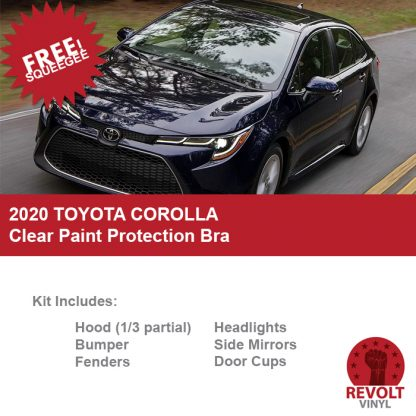 2020 Toyota Corolla Pre Cut Clear Paint Protection Bra Kit