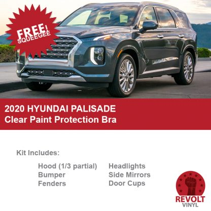 2020 Hyundai Palisade Pre Cut Clear Paint Protection Bra Kit